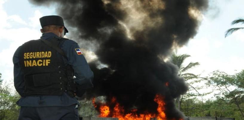 Procuraduría incinera más de 164 kilos de drogas
