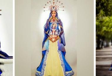 La candidata dominicana al Miss Universo causa controversia por su traje de Virgen